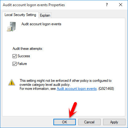 Audit Account Logon Events