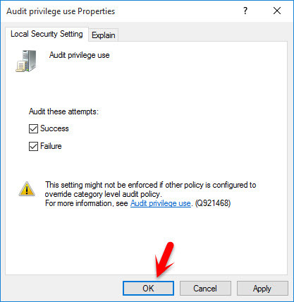 Audit Privilege Use