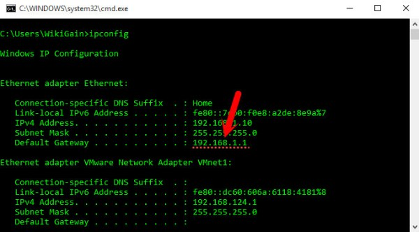 Default Gateway Address