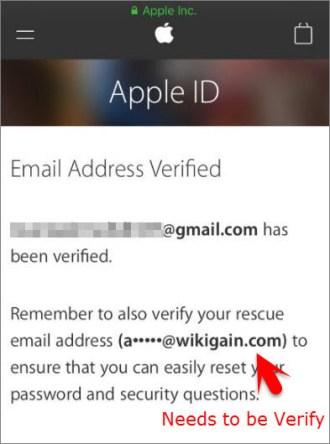 Email Address Verified