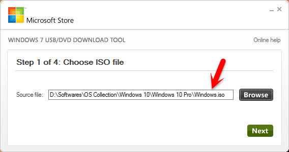 Choose Source File