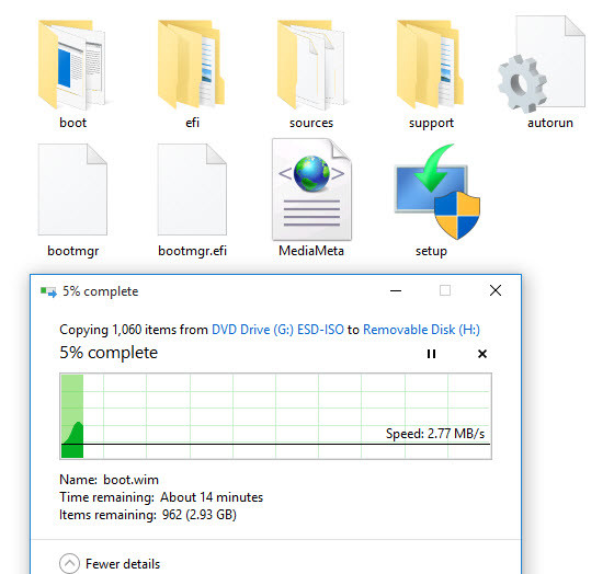 Copying the Windows Files