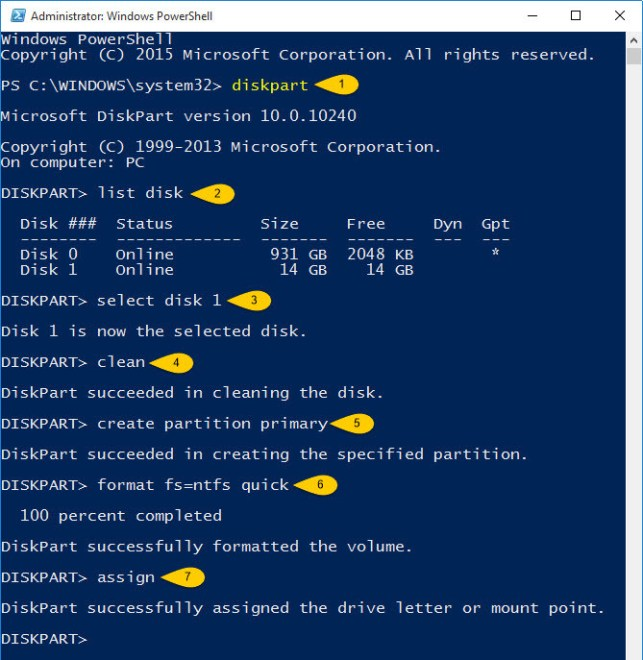 Create Bootable USB Flash Drive PowerShell