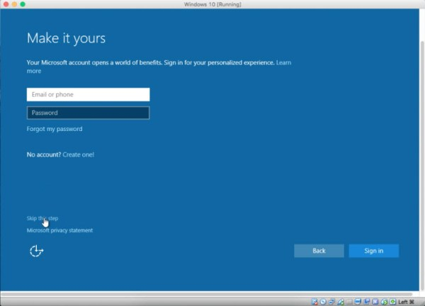 Sign up for Microsoft Account