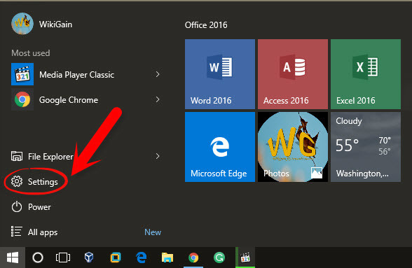 how to enable or disable windows 10 full screen start menu. Black Bedroom Furniture Sets. Home Design Ideas