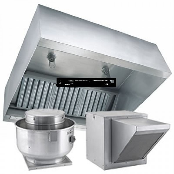 Commercial Kitchen Exhaust Hoods 6x48 Package  Cleaning