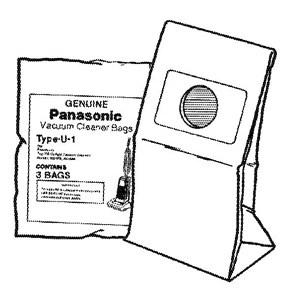"Panasonic ""U1"" Trimline BAGS-3pkg"