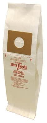 "Royal Dirt Devil ""E"" BroomVac BAGS-3pkg/7xx"