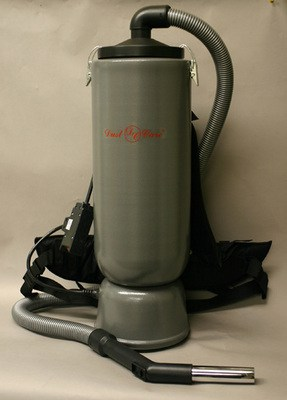 "DustCare BACKPACK w/1.50"" Hose - Silver (10 quart capacity)"