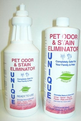Unique PET ODOR & STAIN ELIMINATOR - Ready-to-Use - Quart