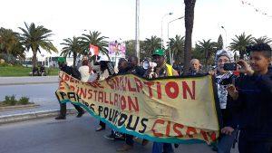 La caravane CSP75-CISPM ˆ la marche de cl™ture du FSM 2015. Tunis, 28/03/15.