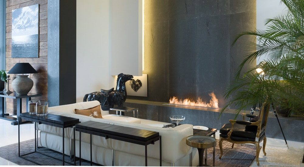 Chemine de Salon Moderne et Design avec Brleur Ethanol AFIRE