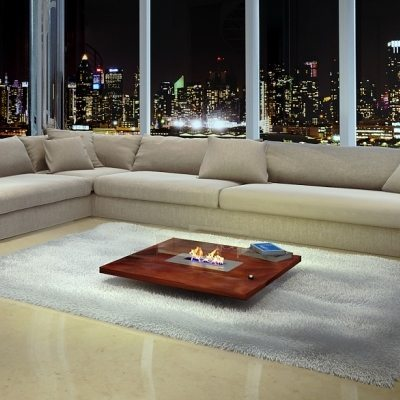 coffee table fireplace with remote
