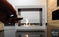 Ideas for setting up a decorative fireplace without having ...