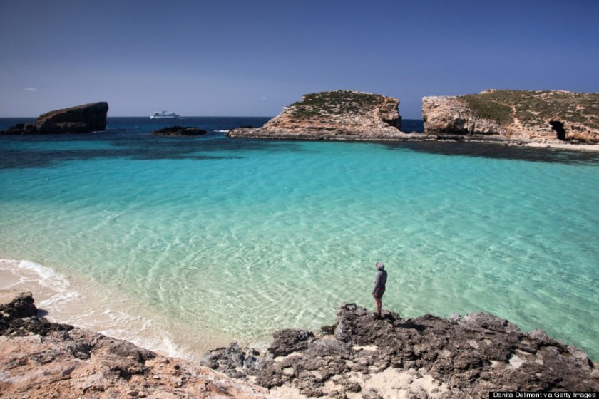 solo travel destinations 2015, blue lagoon, comino, malta