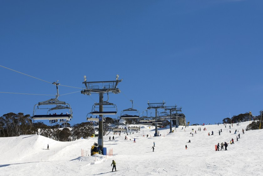 skiing Perisher Valley, New South Wales, Australia