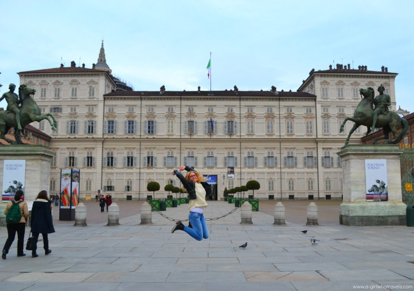 Piazza Castello, Turin, magic, black and white energy meets