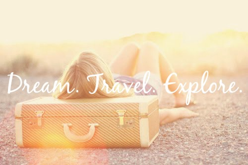 "Inspirational travel Quote ""Dream, travel, explore"" wanderlust"