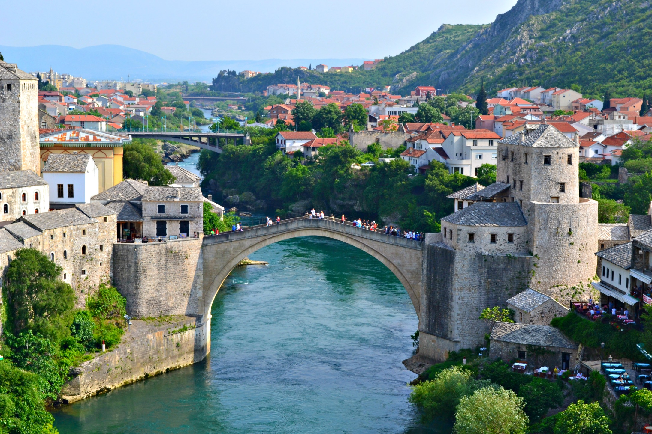 stari Most, Mostar Bridge viewpoint, Bosnia and Herzegovina