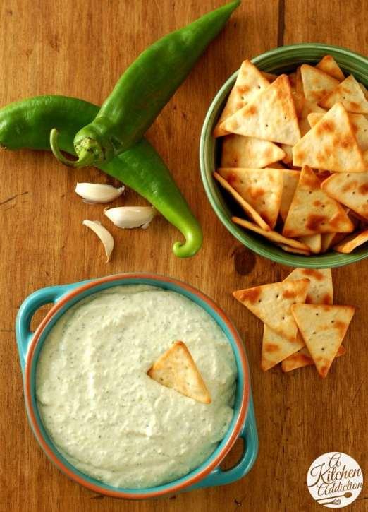 Creamy Roasted Hatch Chile Dip Recipe l www.a-kitchen-addiction.com