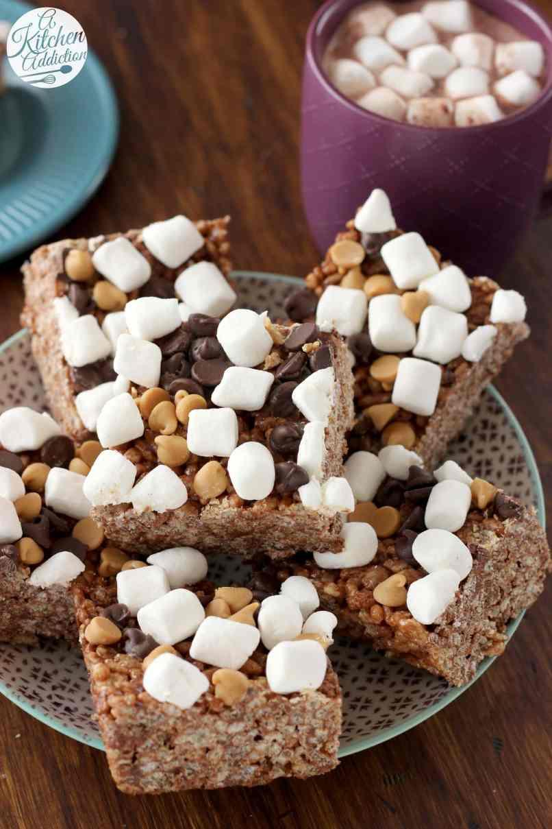 Marshmallow Fluff Rice Krispies Treats Recipe Kika T Kripiss Medan Karamel Peanut Er Hot Chocolate Crispy From A Kitchen Addiction
