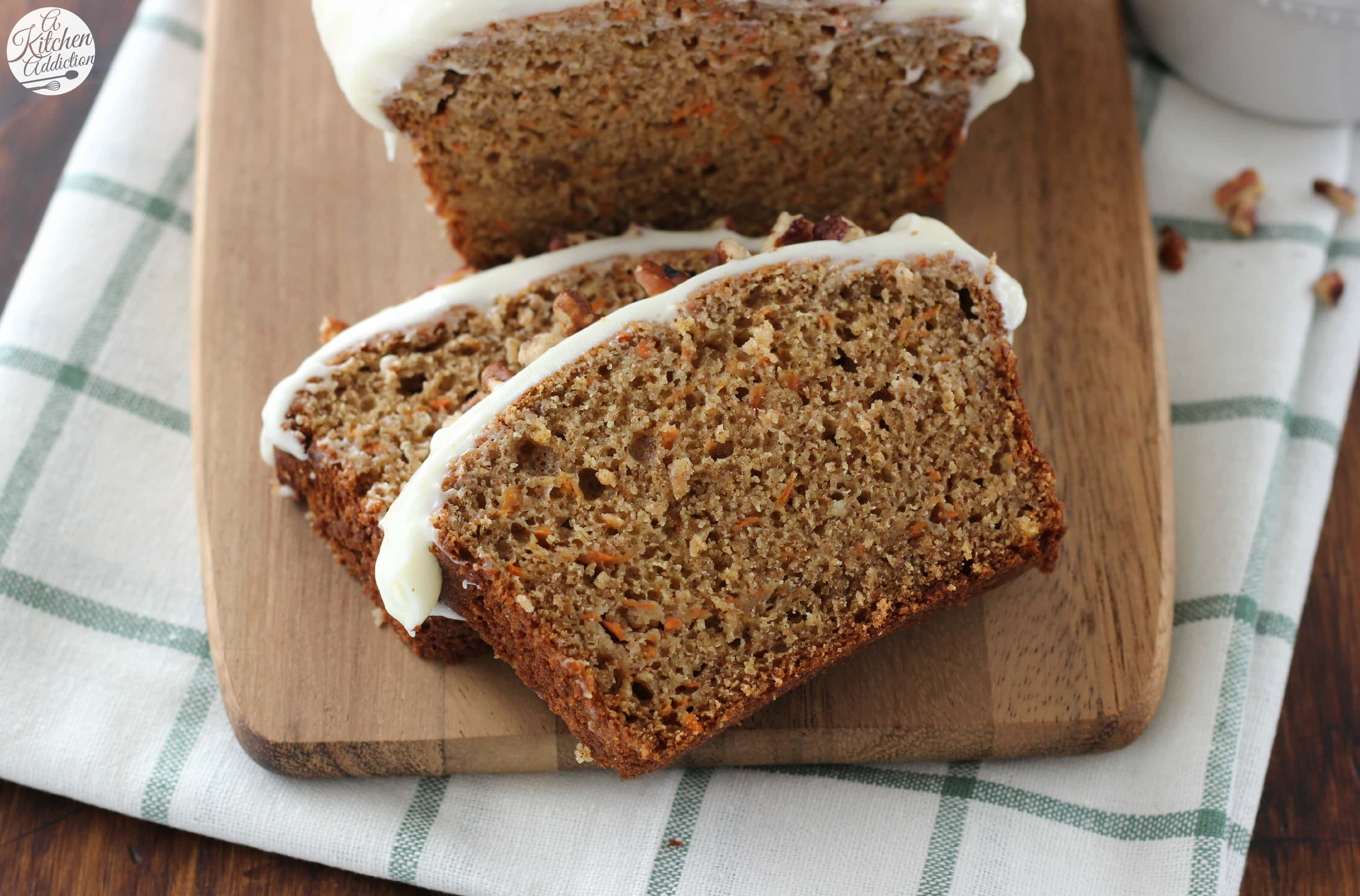 carrot cake quick bread with cream cheese frosting recipe from a