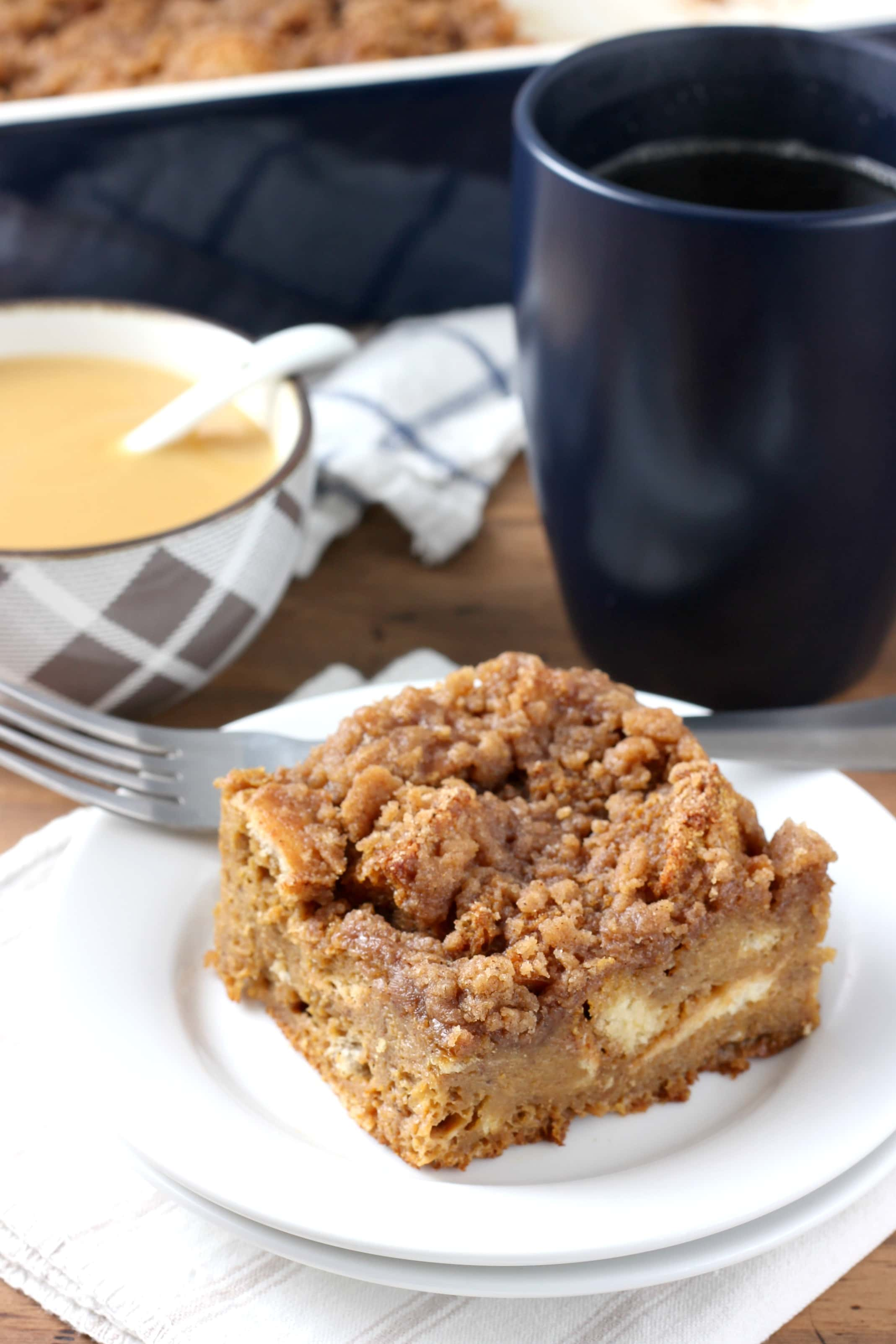 eggnog gingerbread french toast bake recipe from a kitchen addiction