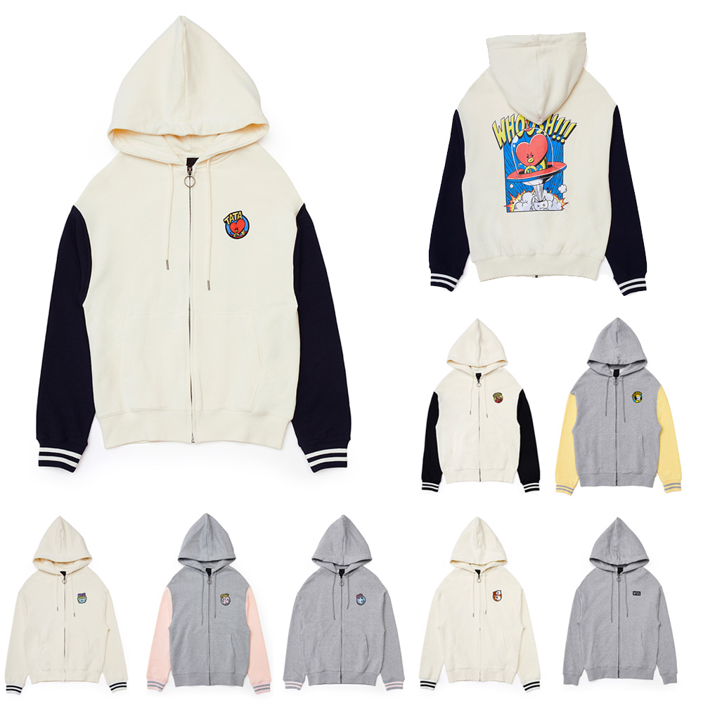 BT21 Zip Up Hoodie by Linefriends. Authentic BT21 Goods. BTS merchandise