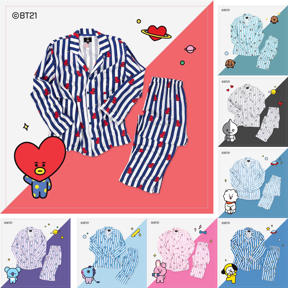 Official Bt21 Pajamas Bts Chimmy Tata Cooky Authentic Bt21 Kpop