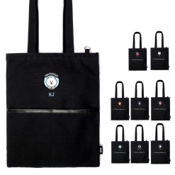 BT21 POCKET TOTE BAG BLACK