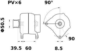 Lichtmaschine Letrika IA0898 Audi VW Seat, 90A, 12V