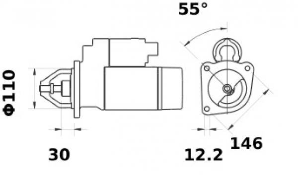 Anlasser Iskra Letrika IS1387, 3.2kW, 12V AZE4241 11.132