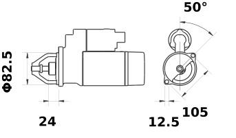 Anlasser Iskra Letrika IS0502, 2.7kW, 12V AZJ3139 11.130