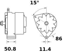 Lichtmaschine Iskra Letrika IA1450, 100A, 12V AAK3830 11