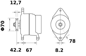 Lichtmaschine Mahle MG452 IA1368 für SABRE 55A 12V Neu!