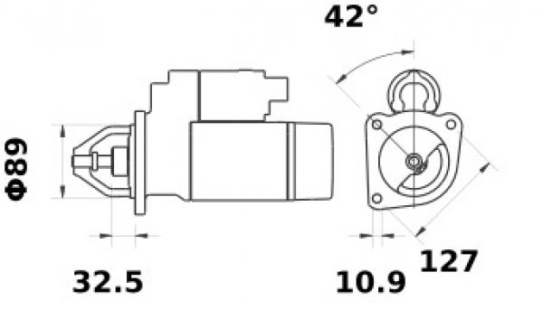 Anlasser Iskra Letrika IS1378, 3.2kW, 12V AZE4244 11.132