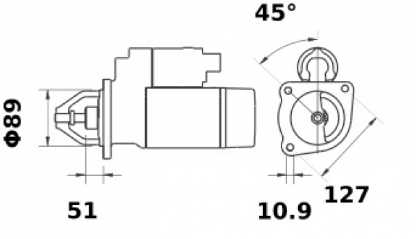 Anlasser Iskra Letrika IS1383, 3.2kW, 12V AZE4238 11.132