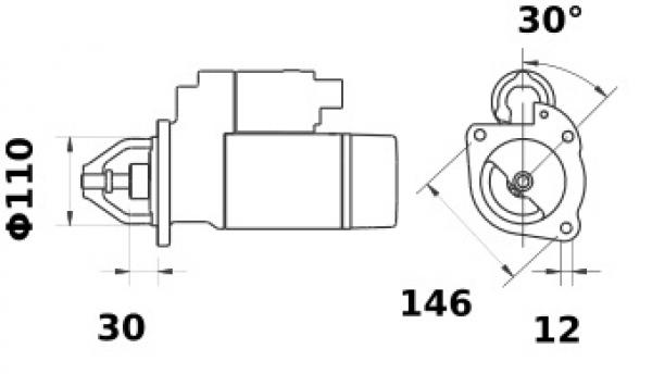 Anlasser Iskra Letrika IS0366, 3.0 kW 12V AZJ3237 11.130