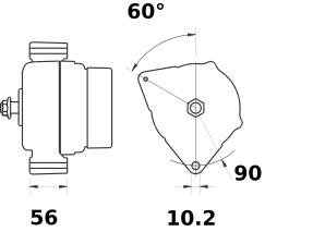Lichtmaschine Mahle MG28 Iskra IA1242 SISU, 150A 12V
