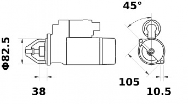 Anlasser Mahle MS430 IS1059 für JOHN DEERE, 3.2kW 12V