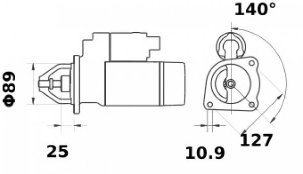 Anlasser Iskra Letrika IS1384, 3.2kW, 12V AZE4239 11.132