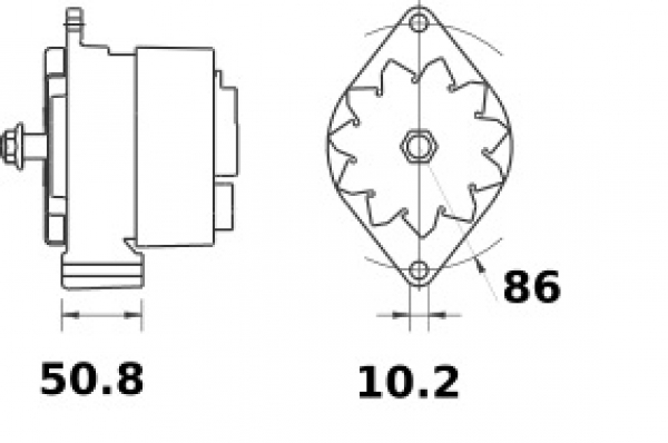 Lichtmaschine Iskra Letrika IA0759, 50A, 24V AAK3336 11