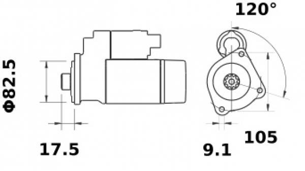 Anlasser Iskra Letrika IS1192, 2.0kW, 12V AZE2652 11.131