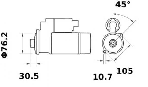 Anlasser Iskra Letrika IS1115, 2.0kW, 12V AZE2645 11.131