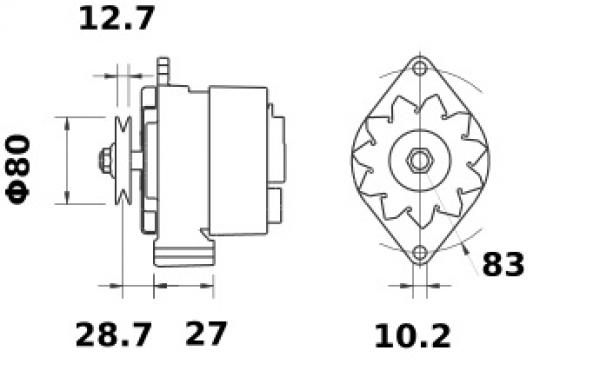 Lichtmaschine ISKRA IA0095 AAG1310 11.201.095 Massey