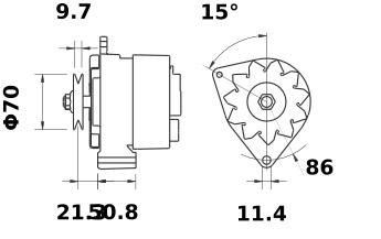 Lichtmaschine Iskra Letrika IA0723, 70A, 12V AAK1818 11