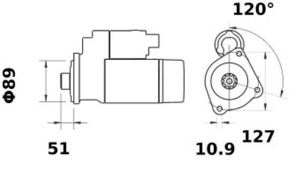 Anlasser Iskra Letrika IS1277, 4.0kW, 24V AZF4646 11.131