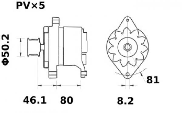 Lichtmaschine Iskra Letrika IA0749, 70A, 12V AAK4582 11