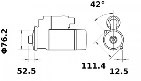 Anlasser Mahle MS383 IS1041 für VW AUDI SEAT, 2.0kW 12V