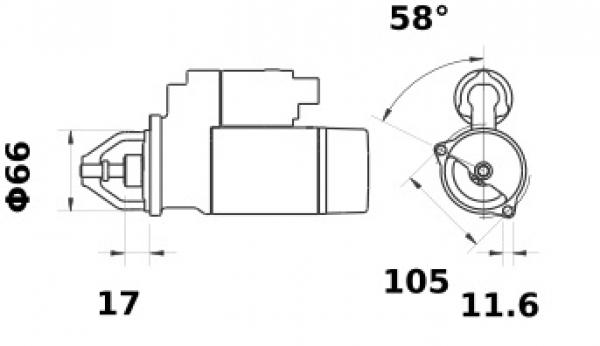 Anlasser Iskra Letrika IS1066, 1.0kW, 12V AZE1230 11.131